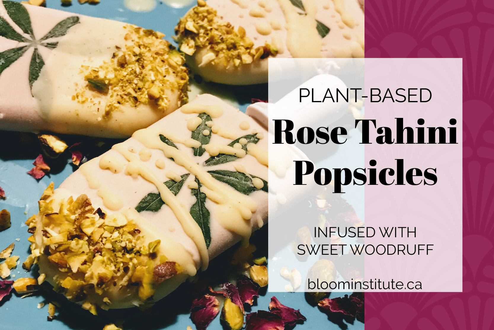 Rose Tahini Herbal Popsicles | bloominstitute.ca