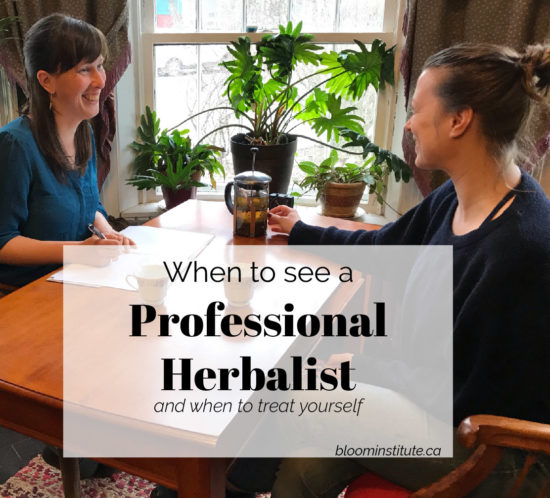 When to see a professional herbalist feature
